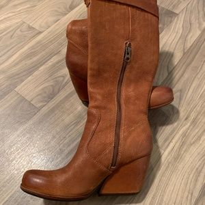 Kork Ease SHAWNA Brown Leather Tall Knee Boots